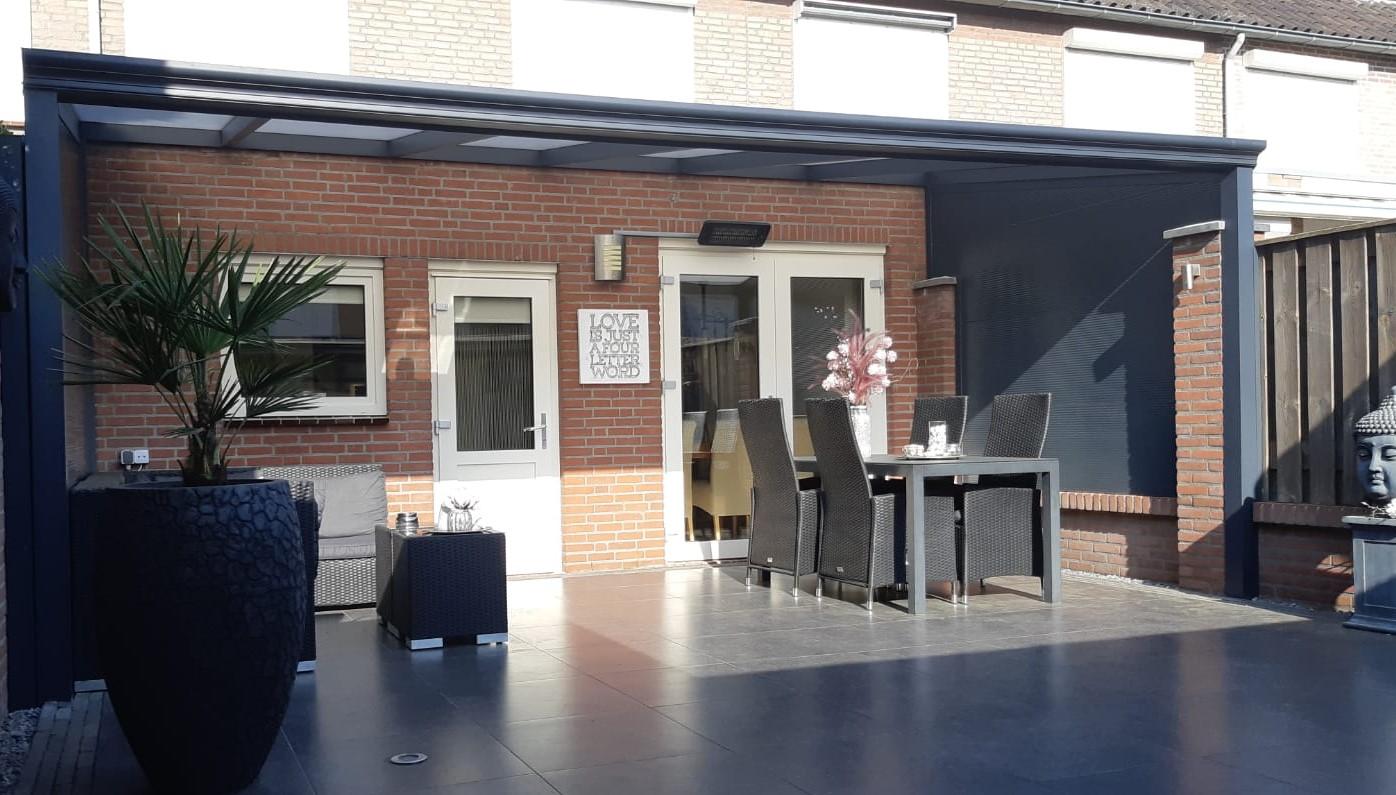 Aluminium veranda antraciet